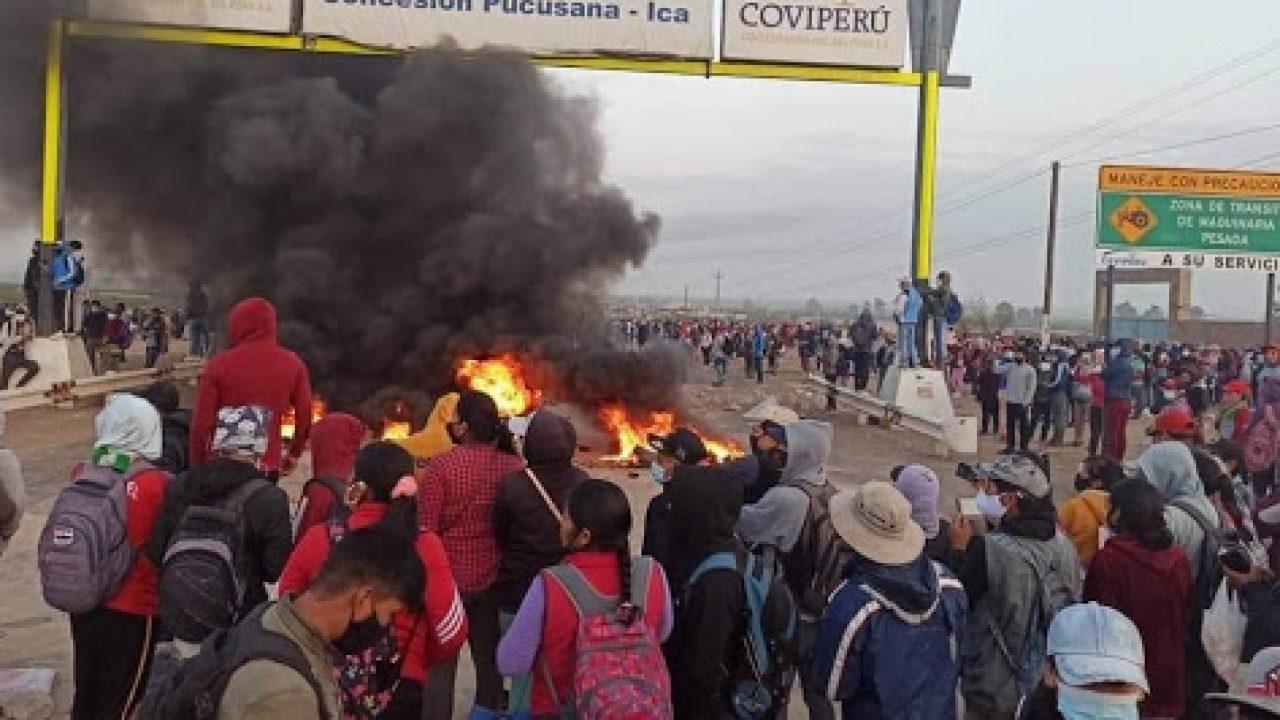 Ica: Continúan enfrentamientos entre policías y manifestantes por paro agrario
