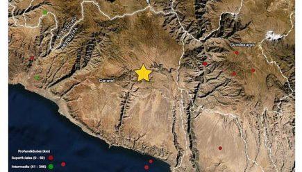 Arequipa: sismos en Caravelí y Caylloma de 3,7 y 3,4 grados reportó hoy IGP