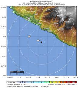 Arequipa: nuevo sismo de 4 grados remece distrito de Chala en Caravelí