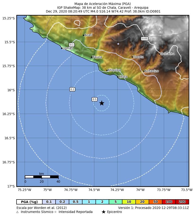 sismo en Arequipa