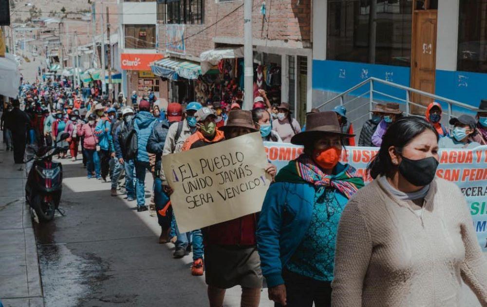 ayacucho protesta minera