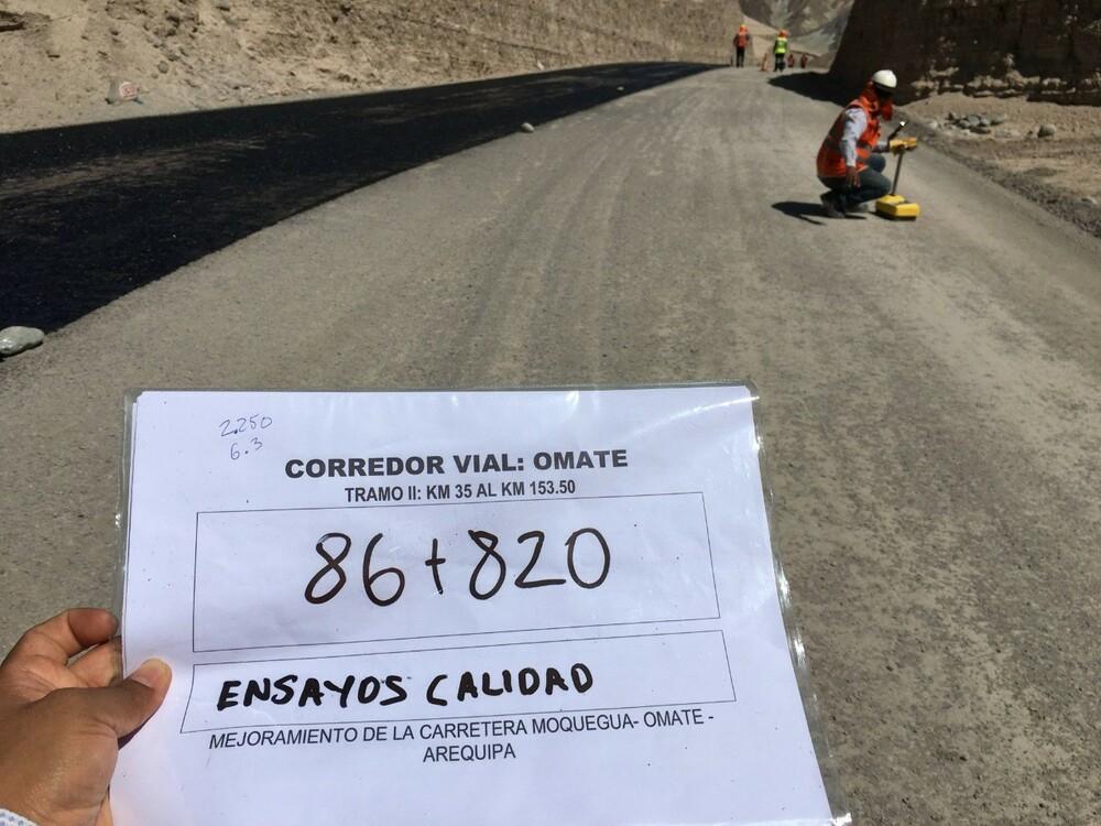 Carretera Omate - Moquegua – Arequipa.