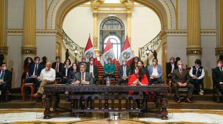 Conferencia del presidente Francisco Sagasti