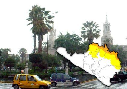 Senamhi advierte lluvias y descenso  de temperatura para la región