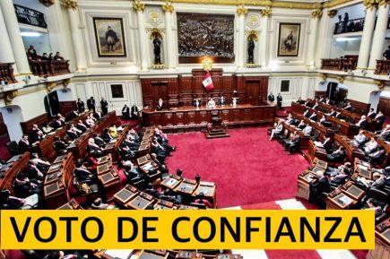 Congreso debate voto de confianza al gabinete de ministros de Francisco Sagasti