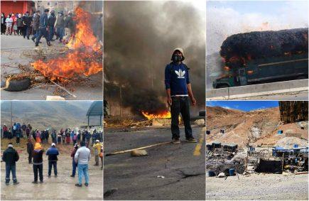 Ola de protestas en Perú: Arequipa, La Libertad, Ica, Junín y Apurímac en tensión social