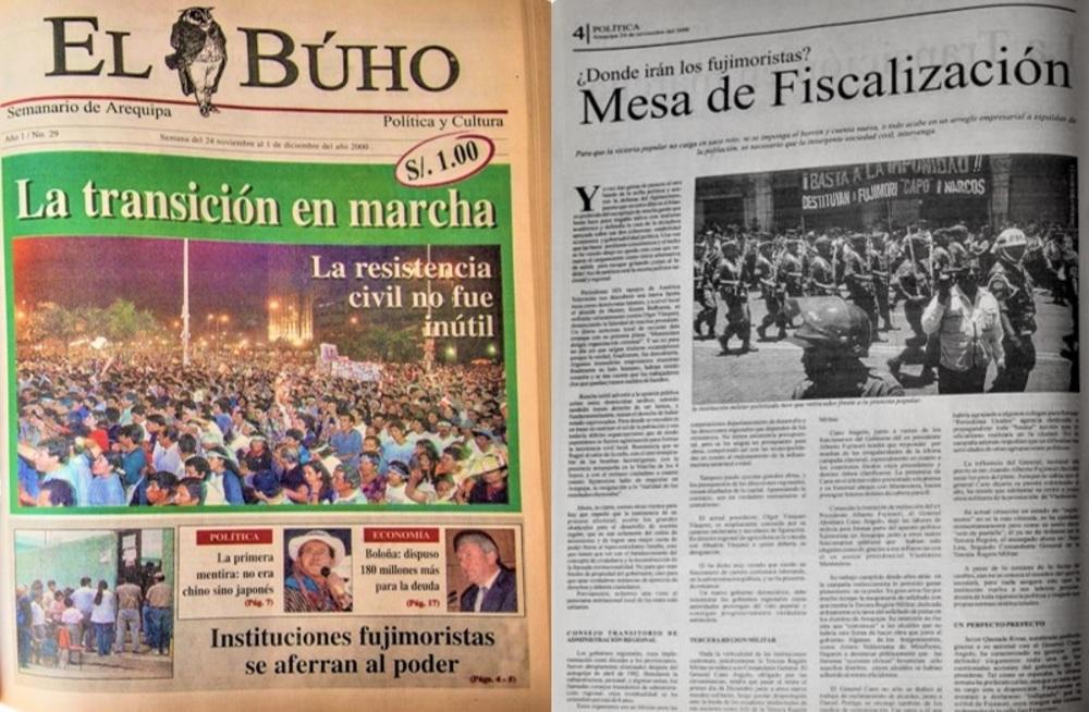 Semanario El Búho N° 29 en Arequipa.