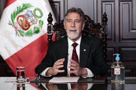 Francisco Sagasti: gracias a  Covax más vacunas llegarán a Perú en marzo (VIDEO)