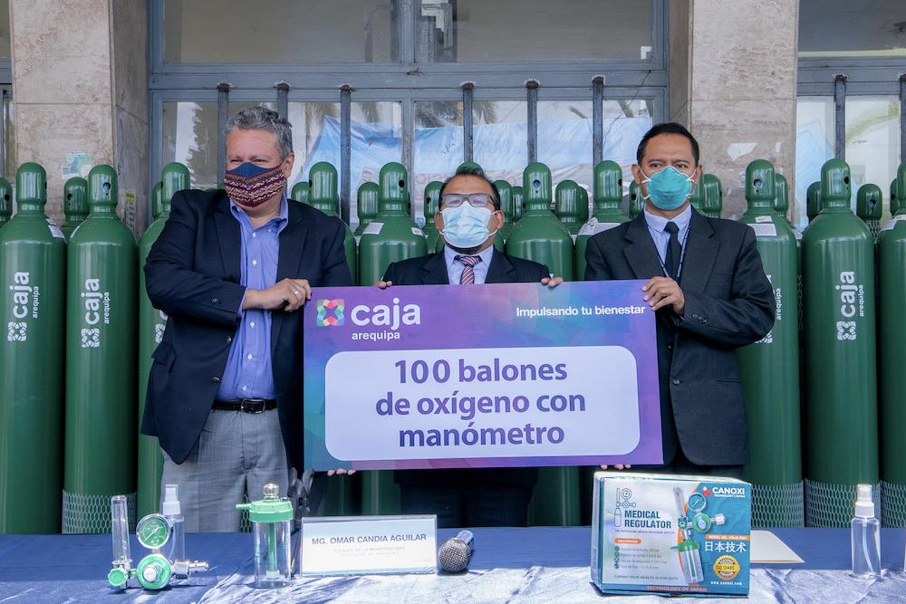 arequipa balones de oxigeno caja municipal hospital honorio delgado