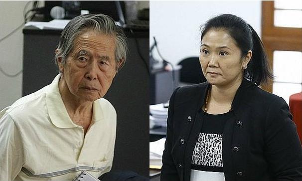 Alberto y Keiko Fujimori