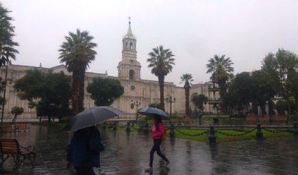 Arequipa: COER advierte que lluvias intensas están muy cerca de la ciudad