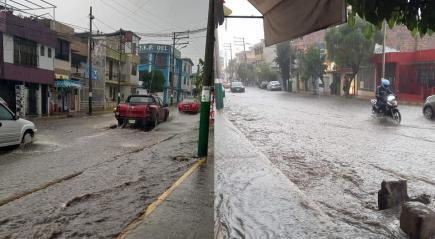 Arequipa: COER informa que en Miraflores y Cayma las lluvias son de intensidad 4