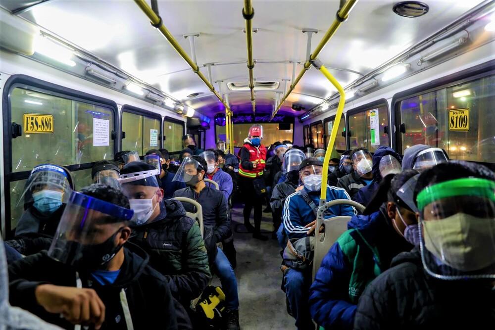Protección en transporte de Arequipa por covid-19.
