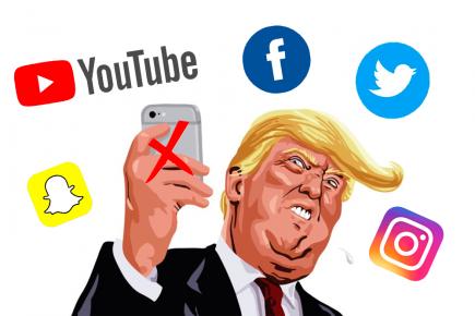 A pocos días de dejar el cargo, Trump se queda sin redes sociales