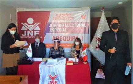 Elecciones 2021: JEE de Arequipa reporta 16 candidatos al Congreso fuera de comicios