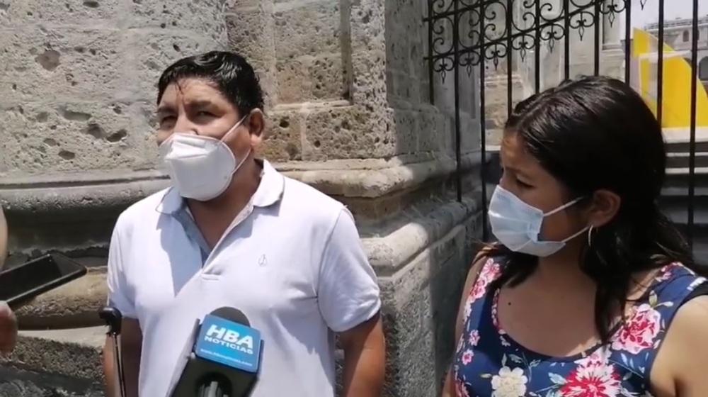 Protesta por Vizcarra en Arequipa