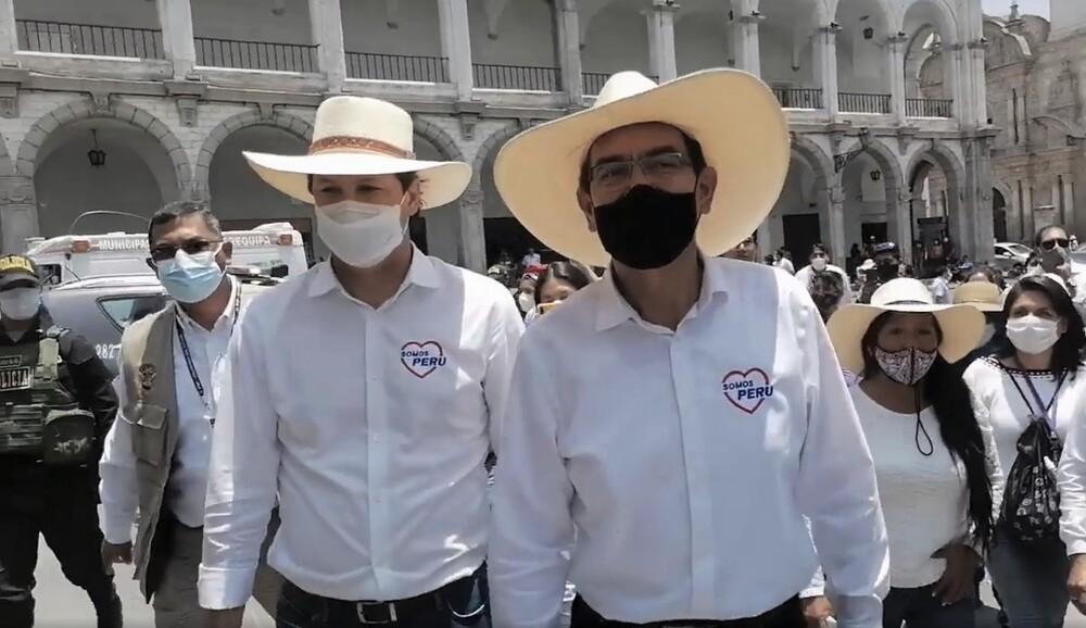 Martín Vizcarra en Arequipa por campaña para las Elecciones 2021.