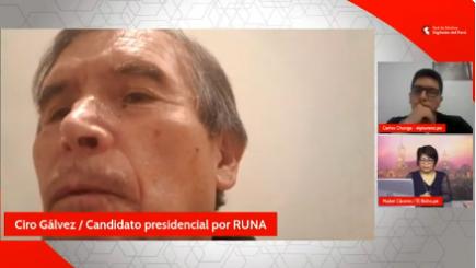Pico a pico:  Candidato presidencial Ciro Gálvez (RUNA) con periodistas de la Red de Medios Digitales