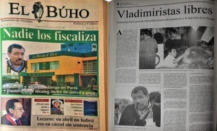 #Hace20Años Vladimiristas de Arequipa, libres de polvo y paja