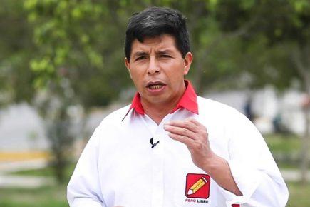 Candidato presidencial Pedro Castillo: No haremos alianza con ningún partido