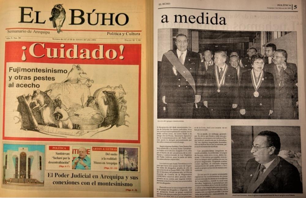 Poder Judicial en Arequipa durante fujimontesinismo.