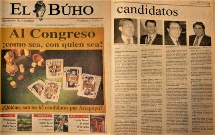 #Hace20Años Al Congreso ¡como sea, con quien sea!: los 65 candidatos por Arequipa