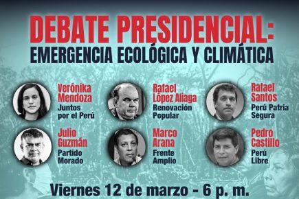 Elecciones 2021: debate de candidatos presidenciales sobre temas ecológicos