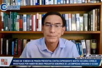 Al voto quedó apelación de prisión preventiva contra Martín Vizcarra