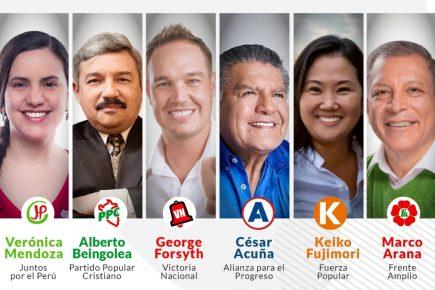 Debate presidencial del JNE: Mendoza, Fujimori, Forsyth, Arana, Acuña y Beingolea