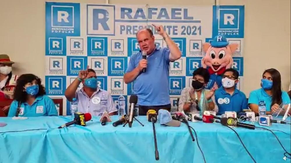 Rafael López Aliaga llegó a Arequipa, para Elecciones 2021, y habló de Tía María.