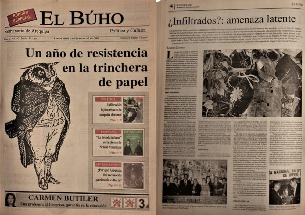 Edición 40 del semanario El Búho, donde se analiza los candidatos reciclados del fujimorismo,