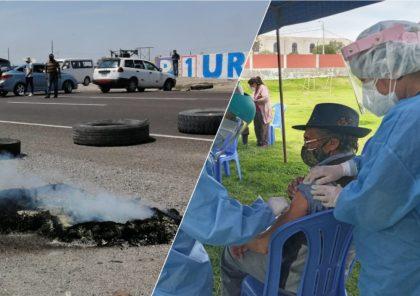Arequipa: protestas afectan la campaña de vacunación de los adultos mayores