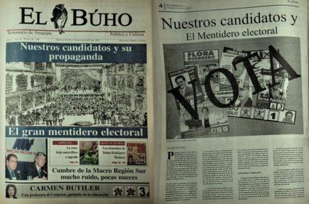 #Hace20Años Candidatos por Arequipa y su propaganda, el gran mentidero electoral