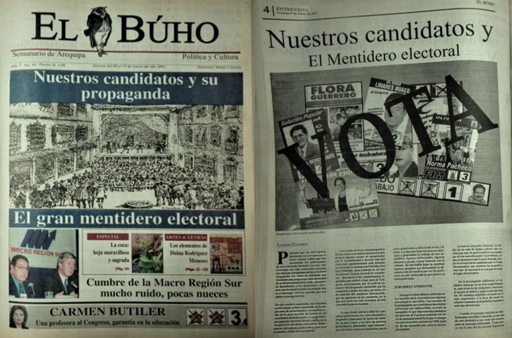 Propaganda electoral del 2001 en Arequipa