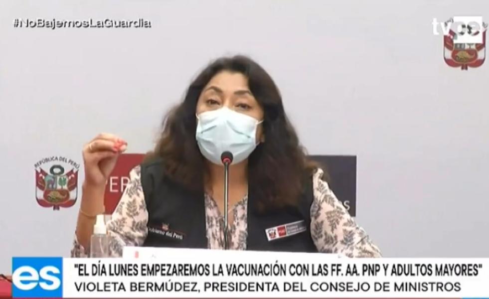 vacunas Peru violeta Bermudez