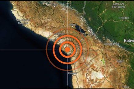 Sismo de 4.5 grados remece Tacna, Moquegua y Arequipa