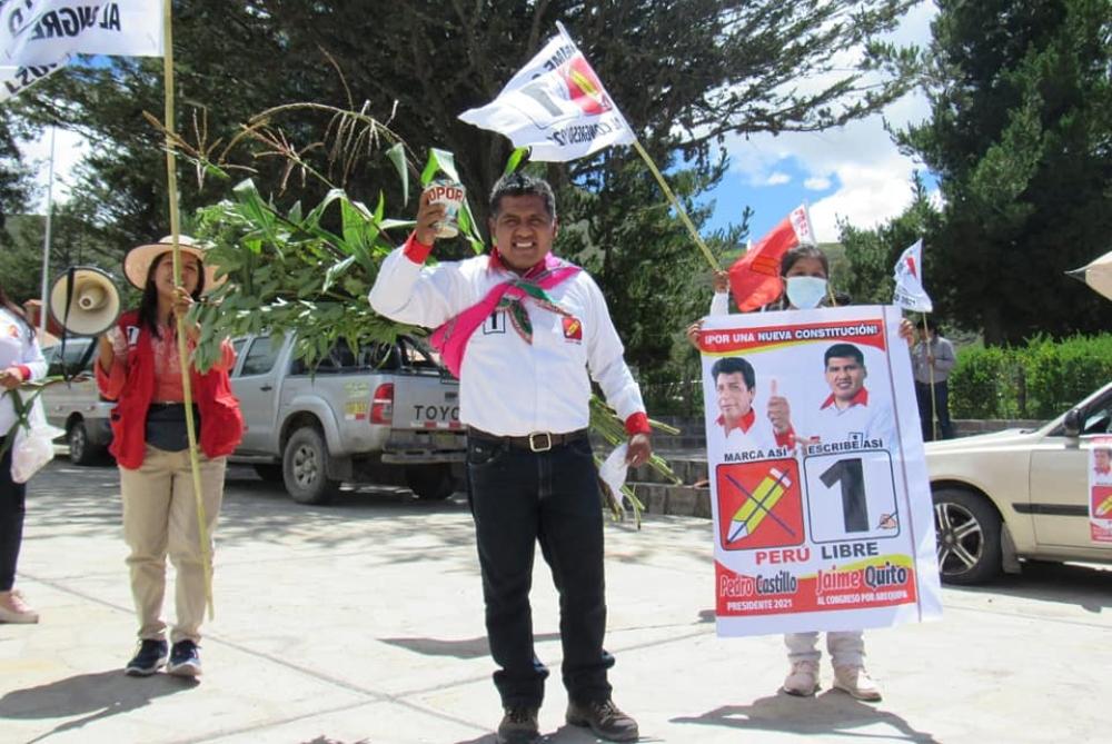 Virtual congresista por Arequipa dice que Perú Libre convocará al pueblo para la segunda vuelta
