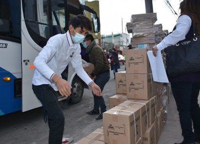 Trasladan material electoral bajo supervisión en la ODPE Arequipa 1