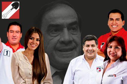 Candidatos de Acción Popular en Arequipa, con sombras por  cabeza de lista