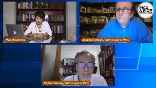 Pico a Pico: José de Echave y Pedro Francke exponen propuesta económica de Juntos por el Perú