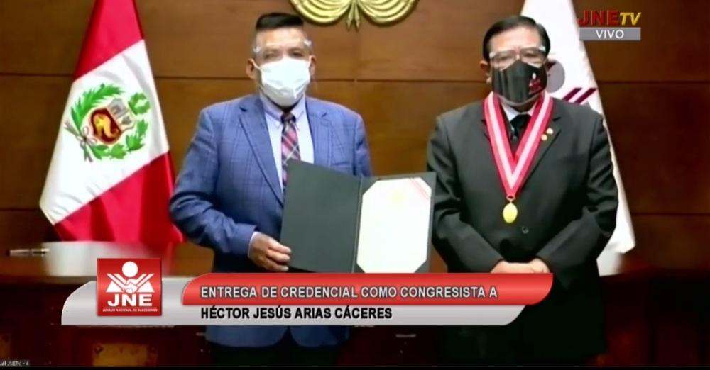 Héctor Arias, nuevo congresista por Arequipa.