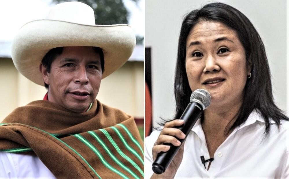 Pedro Castillo mantienen ventaja sobre Keiko Fujimori.