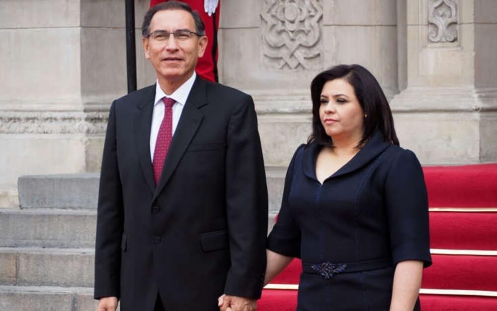 Martín Vizcarra y esposa, con covid-19.