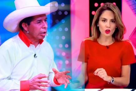 Pedro Castillo cortó entrevista en vivo con Mávila Huertas (VIDEO)