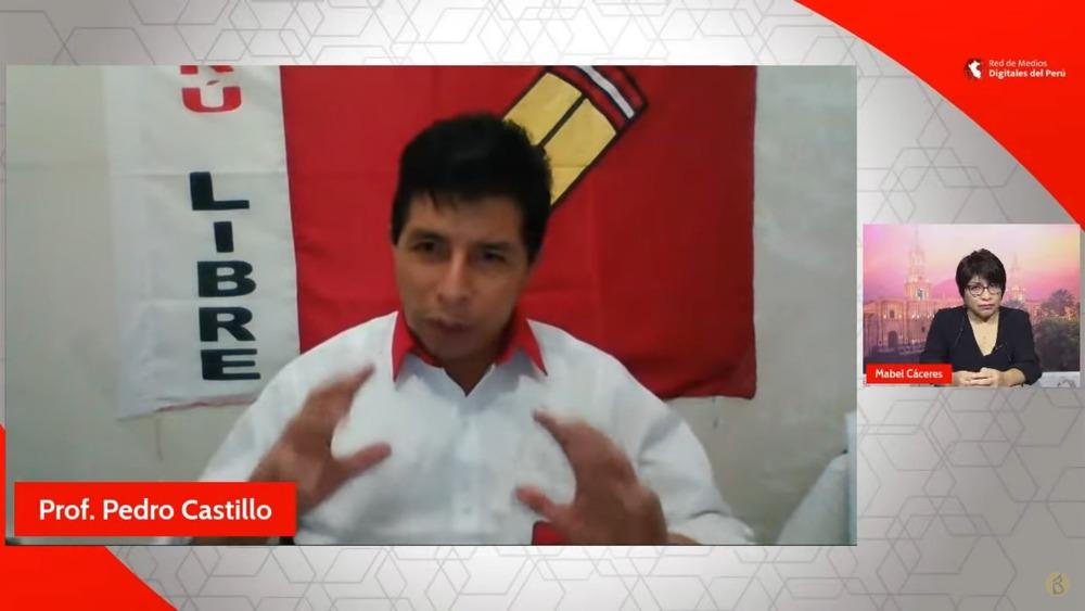 Pedro Castillo de Perú Libre en Elecciones 2021.