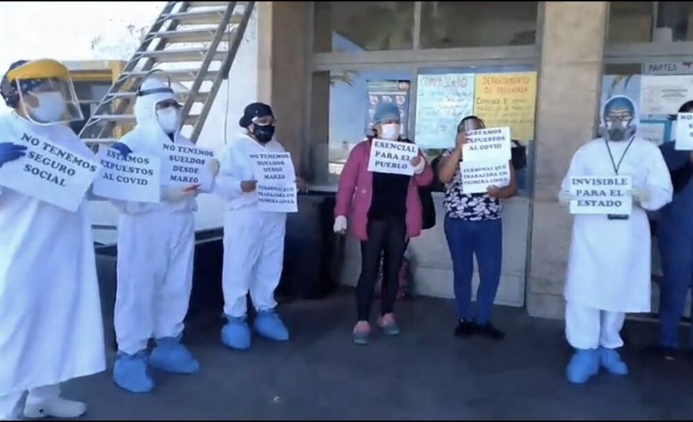 Protesta de enfermeras en hospital Honorio Delgado de Arequipa