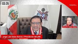 Jorge Luis Salas Arenas, presidente del JNE: No hay ninguna posibilidad de fraude