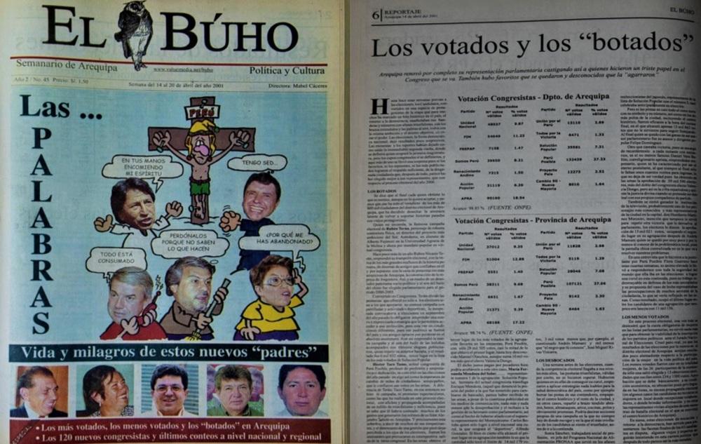 Representantes al Congreso por Arequipa