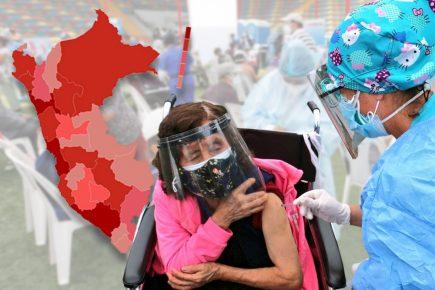 Avance desigual de la vacunación contra el covid-19 en las regiones del Perú