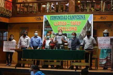Pobladores Llatica denuncian mina Buenaventura por contaminación